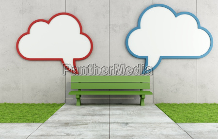 two blank cloud billboard in a