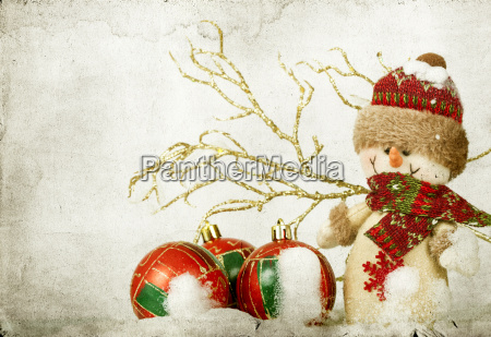 christmas decorations with snowman