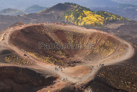 view of the volcanic landscape around