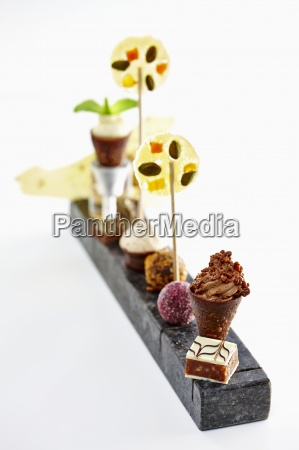 assorted blurred background candy choc chocolate