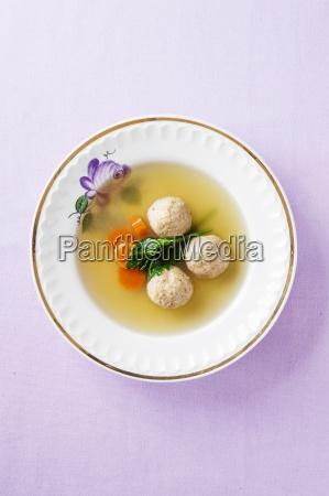above appetiser appetizer ball balls bouillon