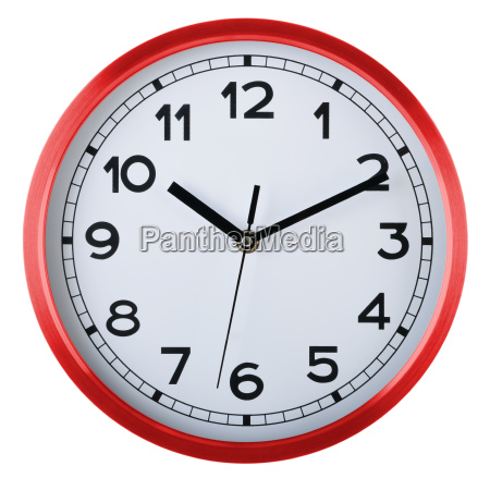 wall clock isolated on white ten
