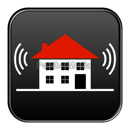 black button networked house