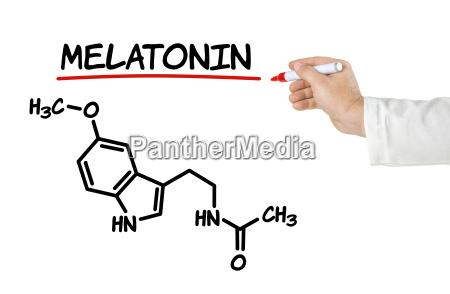 chemical structure of melatonin