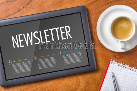 tablet desk newsletter