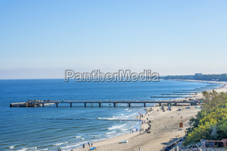 baltic beach of kohlberg poland panoramic
