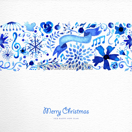 merry christmas hand drawn pattern illustration