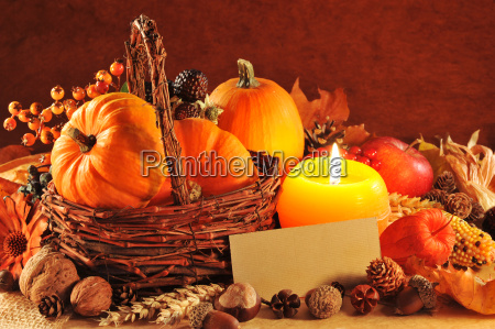 pumpkins in candlelight