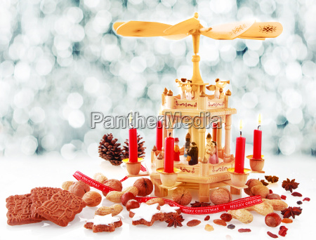 rustic handcrafted wooden nativity candleholder
