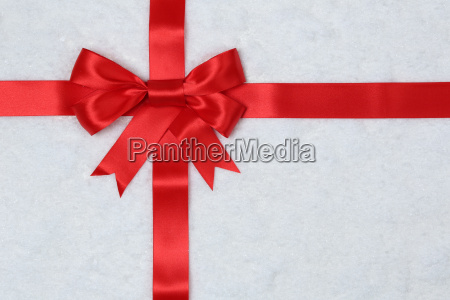 gift bow with snow background for
