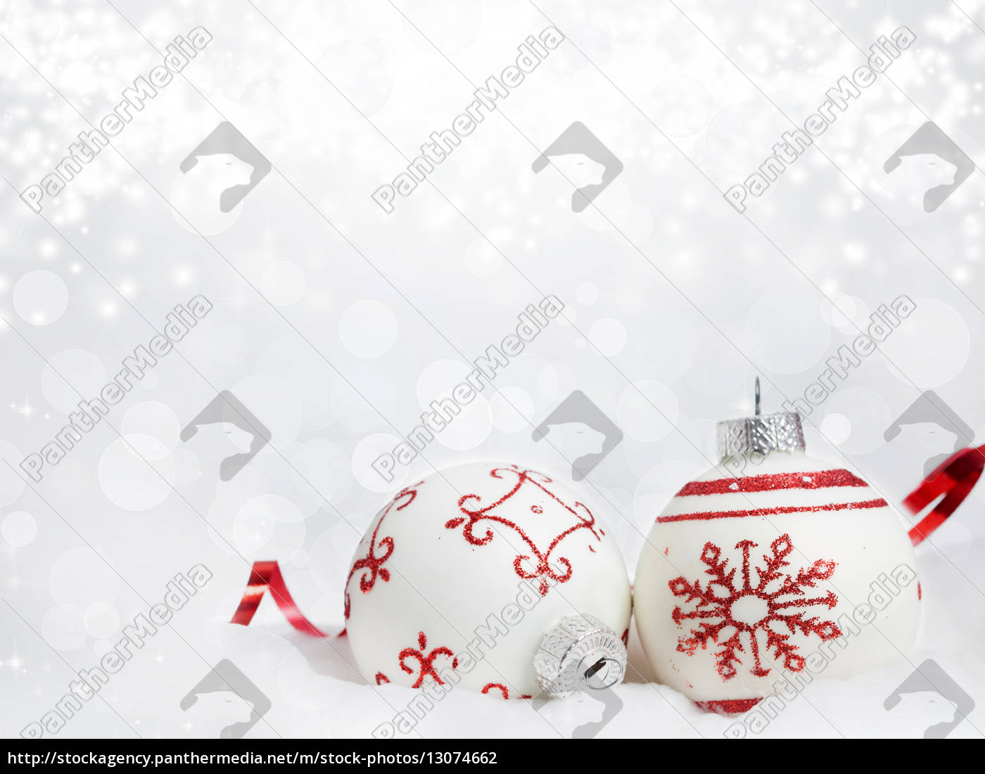 christmas, background, with, red, decorations - 13074662