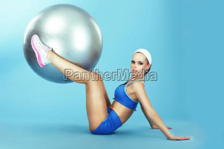 training athletics woman in sportswear with