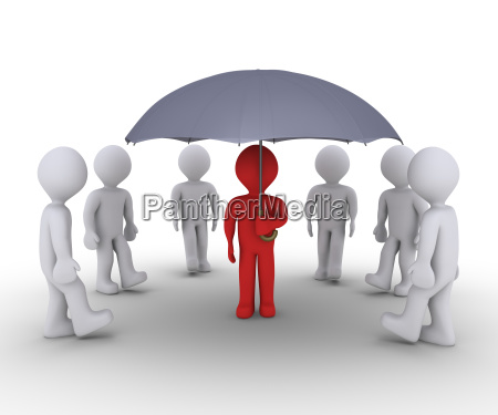 person offering protection under umbrella