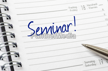 schedule with the entry seminar