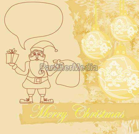 funny santa claus abstract christmas