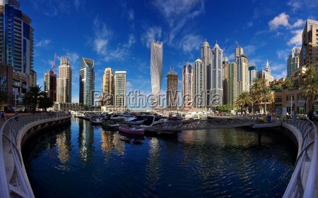 dubai marina with high rise buildings