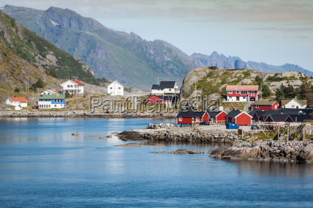 picturesque fishing town of reine by