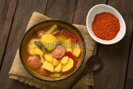 hungarian paprikas krumpli potato with paprika