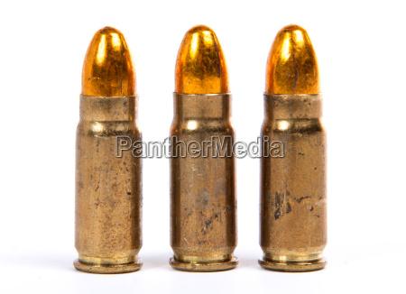 three ammunition for firearms