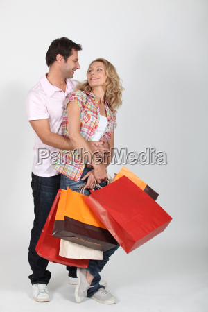 couple on a shopping frenzy