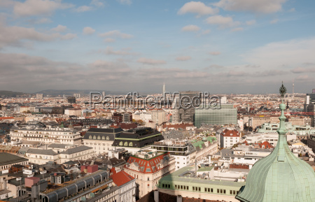 vienna view from the stephanskirche