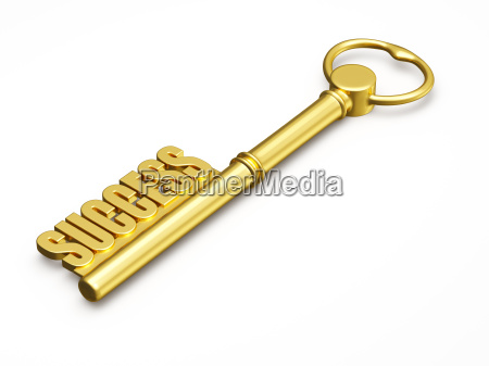 key to success made of gold
