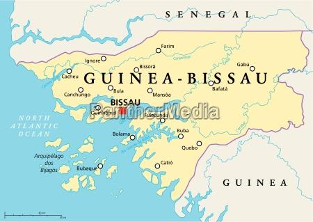 guinea bissau political map