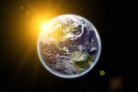 sun on earth earth texture