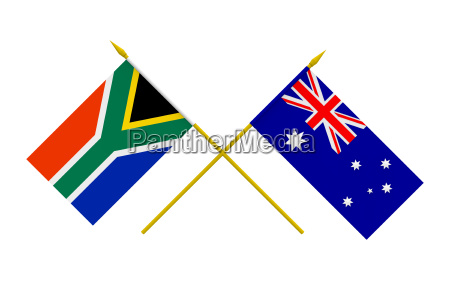 flags australia and south africa