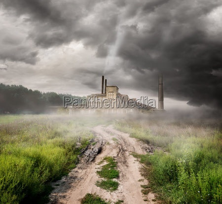 thermal station and country road