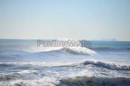 waves at the mediterranean spain