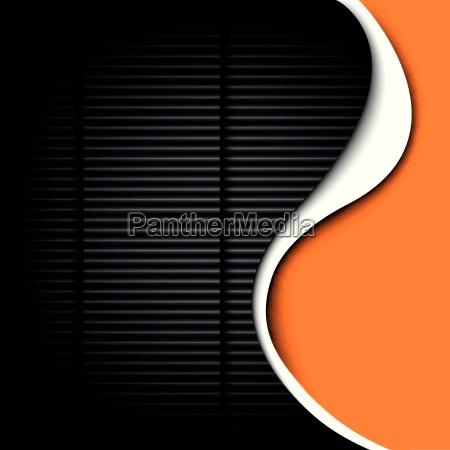 carbon curve vignette graphite orange lines