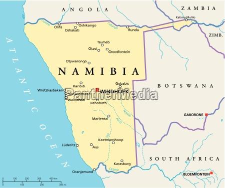 namibia political map