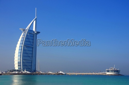 burj al arab with beach
