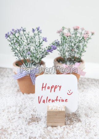 sign happy valentine