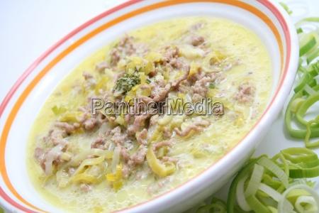 cheese leek soup