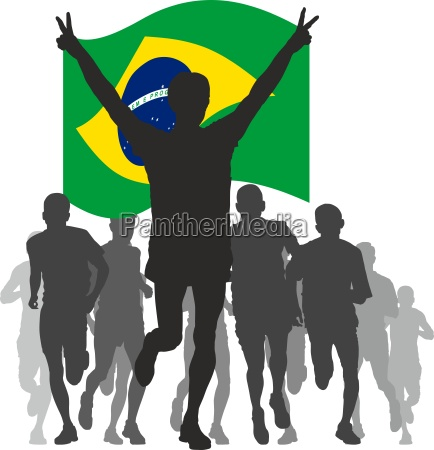 winner, with, the, brazil, flag, at - 13224232