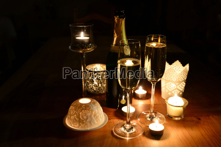 sparkling new years candle light