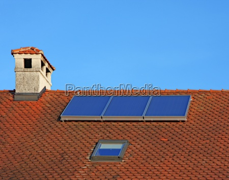private blue house building green energy