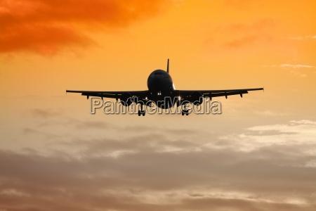air plane sunset
