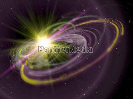sun, rays, in, space - 13232052