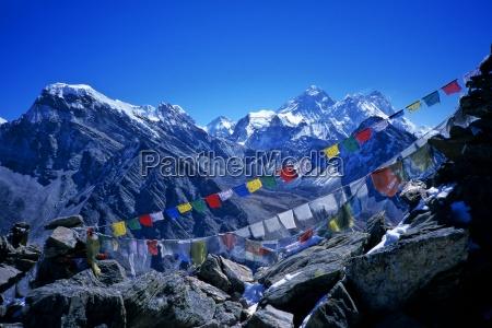blue religion mountains asia coloured colourful
