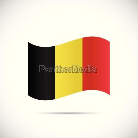 belgium flag illustration