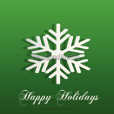 happy holidays snowflake background