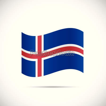 iceland flag illustration