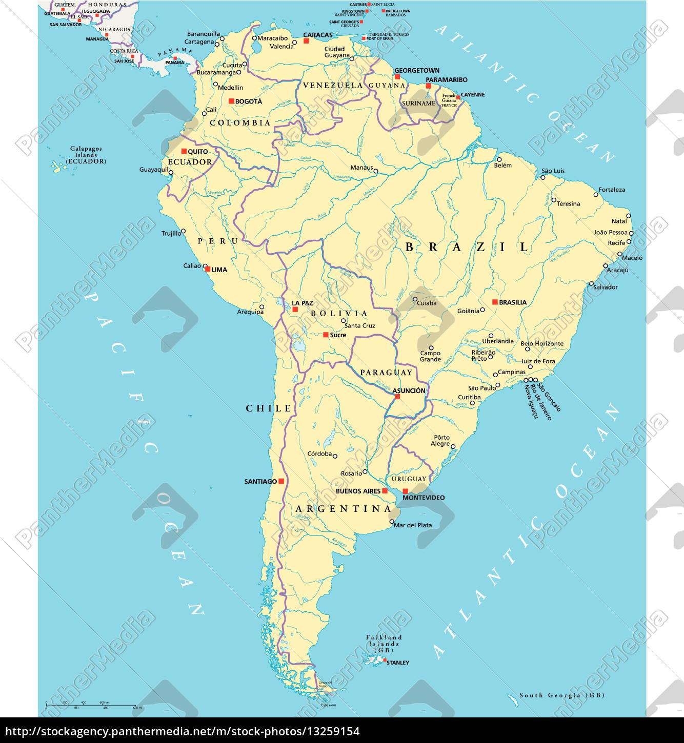 Royalty free vector 13259154 - South America Political Map on map of panama, map of venezuela, map of travel, map of argentina, map of spain, map of playa, map of bolivia, map of colombia, map of buenos aires, map of costa rica, map of africa, map of europe, map of sudamerica, map of las antillas, map of barbados, map of france, map of paraguay, map of peru, map of ecuador, map of australia,