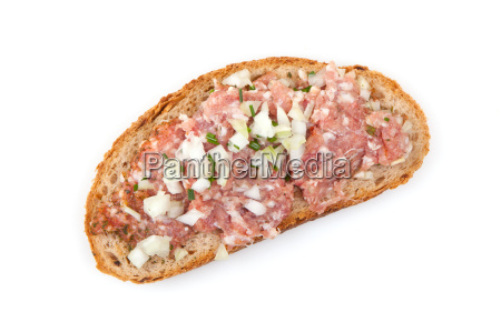minced meat with bread