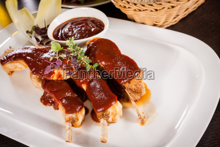 grilled pork ribs spare ribs with