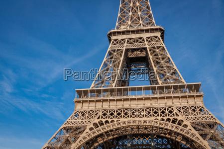 eiffeltower in paris landmark in front