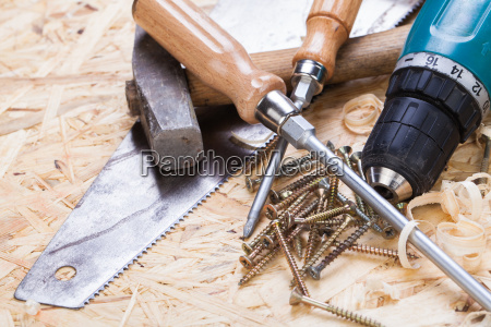 handyman tools with cordless drill screwdriver